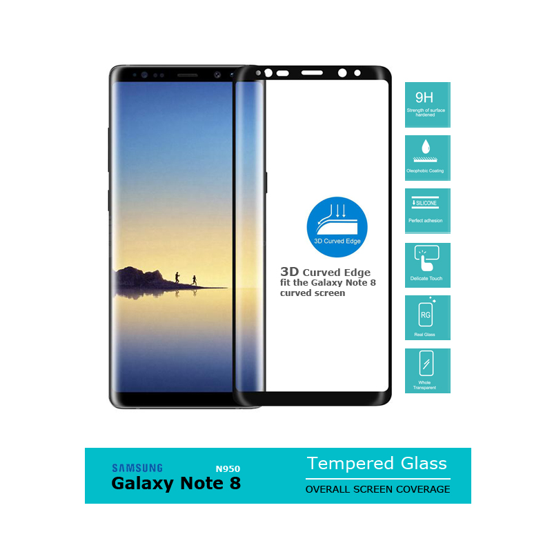 Samsumg Galaxy Note 8 N950F | 3D Curve Overall Screen Tempered Glass 0.33mm